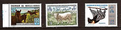 Animal Kingdom Taureaun°215,horses N°196 Bat Mouse N° 205 97m 288b Just Nouvelle Hebrides Fr