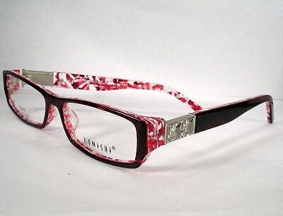 Konishi Clariti KZ888 Wine Marble  Women Eyeglasses Frames  Eyewear New Designer