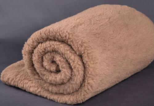 Pure Merino Wool Blanket Bedspread 100/% Natural all measures woolmarked Brown