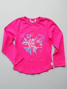 4ffe5af3 3 Pommes Little Girls Fuchsia Pink Cotton T Shirt Top Long Sleeve ...