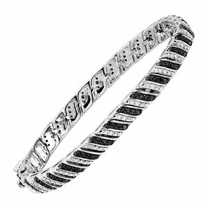 1-ct-Black-amp-White-Diamond-Tennis-Bracelet-in-Sterling-Silver