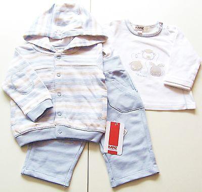 Jacke Shirt Hose Gr.80 Kanz NEU blau weiß Sweat Set 100% Baumwolle baby ssv
