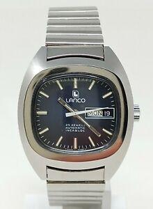 Orologio Lanco 36625 automatic watch 25 jewels clock vintage rare montre 70's