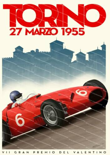 poster reproduction. Torino 1955 Vintage motor racing advert