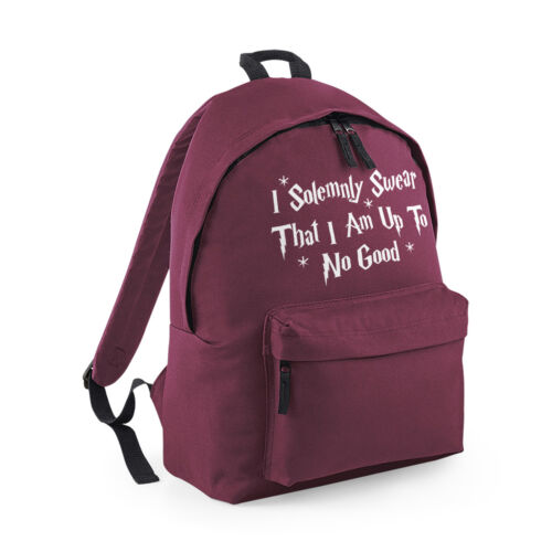 I Solemnly Swear That I Am Up To No Good Backpack Harry Wizard School Bag Gift
