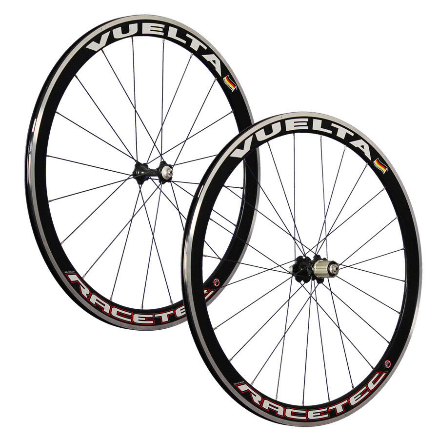 VUELTA 28 Zoll System Fahrrad Rennrad Laufradsatz RaceTec Airo-Felgen black