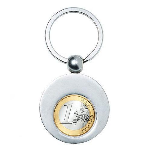 2 Stück Schlüsselanhänger für Einkaufs Chip Einkaufswagen Chiphalter rund NEU