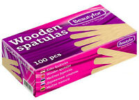 100 Spatulas Professional Disposable Wooden Waxing Spatulas (Large) Pack of 100