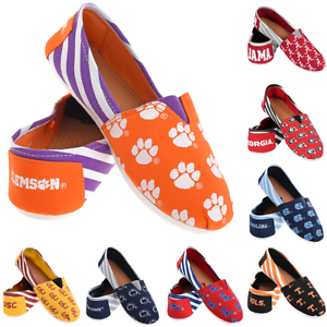 NCAA Unisex Exclusive Team Logo Flats with Clutch