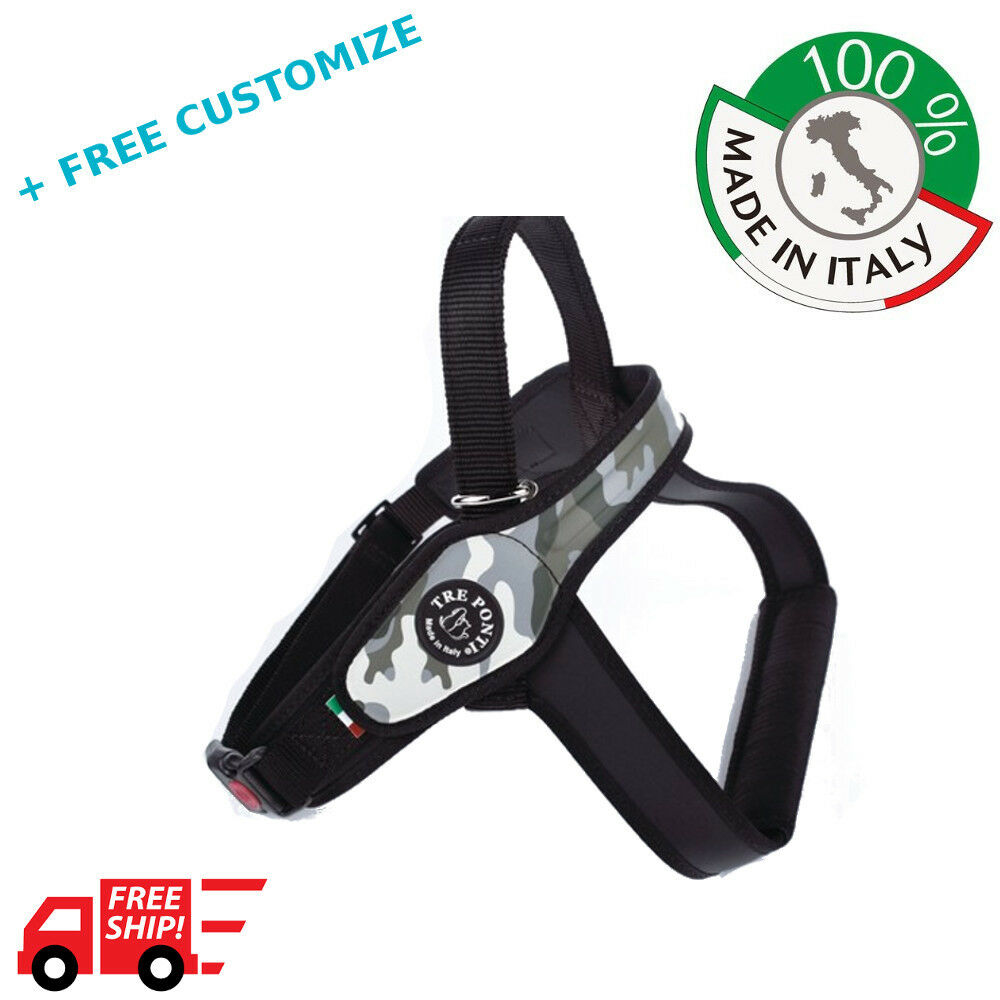 DOG HARNESSES TRE PONTI MOD. PRIMO FOR BIG DOGS 100% MADE IN ITALY
