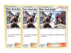 3x-Equipe-Crane-Grunt-133-149-Pokemon-Sun-amp-Moon-Base-Ensemble-Trainer-Carte-NM