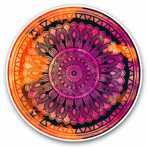 2-x-Vinyl-Stickers-7-5cm-Abstract-Mandala-Sunset-Fun-Cool-Gift-2713