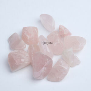 200g-Bulk-Large-Tumbled-Stone-ROSE-Quartz-Crystal-Healing-Reiki-Mineral-Pouch