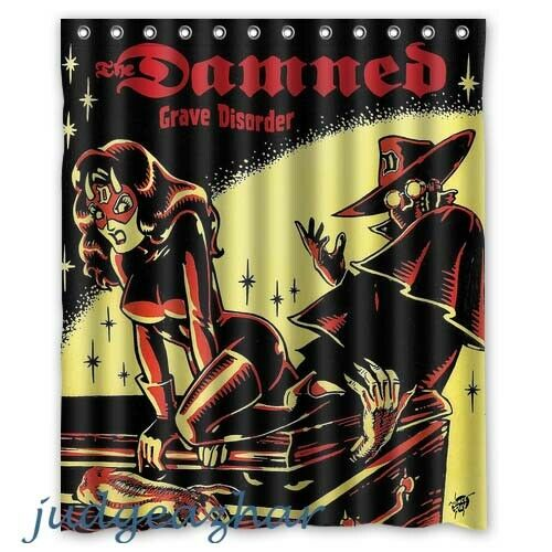 The Damned Grave Disorder Album Cover Custom Shower Curtain 60 x 72 Inch