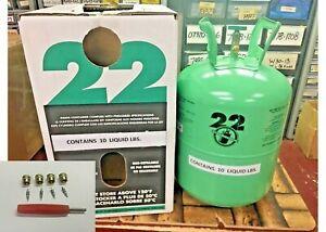 R22-R-22-R-22-Refrigerant-10lb-Cylinder-Virgin-Pure-USA-Free-Shipping-Kit-M