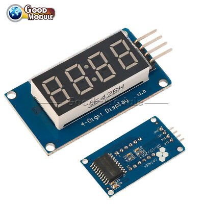 2PCS 4Bits Digital Tube LED Display TM1637 Module With Clock Display for Arduino