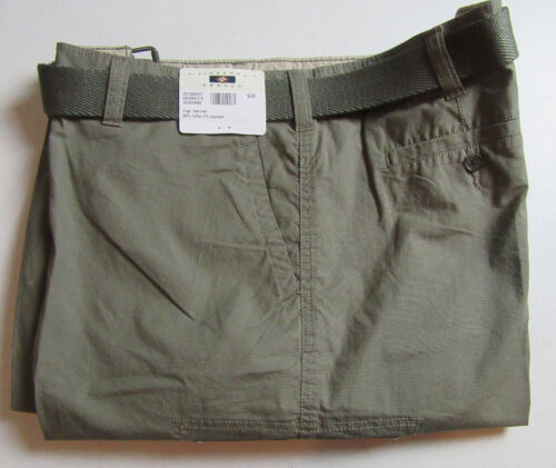 $79 New Jos A Bank JOSEPH ABBOUD cotton cargo shorts w// belt 40 W in Olive