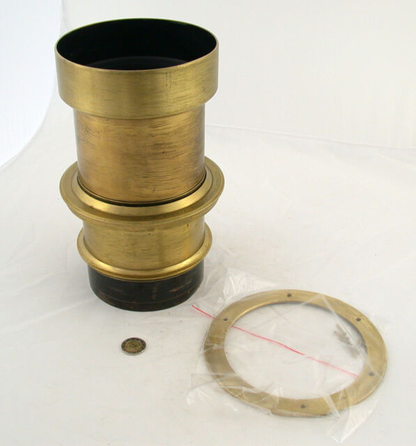 VITAX Portrait brass lens F3,8 No. 3 Messing Wollensak Studio shutter style B 5