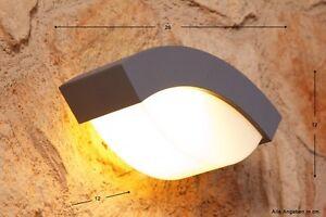 Applique da esterno design alluminio lampada da giardino argento