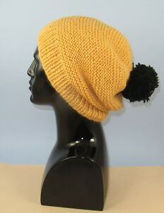 Details about PRINTED INSTRUCTIONS - CHUNKY GARTER STITCH BIG BOBBLE SLOUCH  HAT KNIT PATTERN