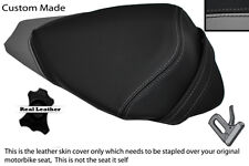 BLACK & GREY CUSTOM FITS APRILIA RS4 125 11-12 REAR PILLION SEAT COVER