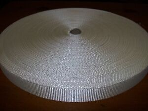 1-Roll-25mm-1-034-50-metre-Halter-Webbing-White