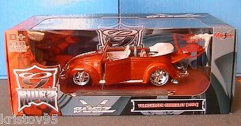 VW VOLKSWAGENB KAFER CABRIOLET RIDEZ TUNINGvoiture 1951 OR MAISTO  1 18 nouveau ROADSTER  jusqu'à 60% de réduction