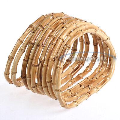 5 Pairs Bamboo Wood Hand Bag Handbag Handles