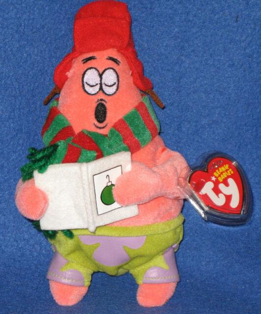 35908edccee Patrick Ty Plush Beanie Babies Christmas Silent Night Star 2007 Tags  Spongebob