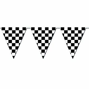 Giant Racing Checkered Flag Pennant Banner Party Decoration Nascar