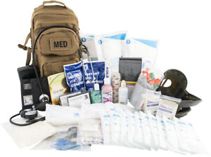 """Tactical Trauma First Aid Back Pack Kit """"230 Items"""" w/ Tourniquet Options"""