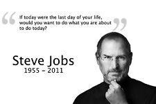 Steve Jobs Motivational Poster 12x18 Inch Silk Fabric Print Art Wall Decor 53