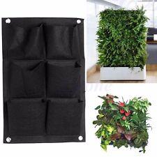 6-Pocket Outdoor Indoor Wall Balcony Herb Vertical Garden Hanging Planter
