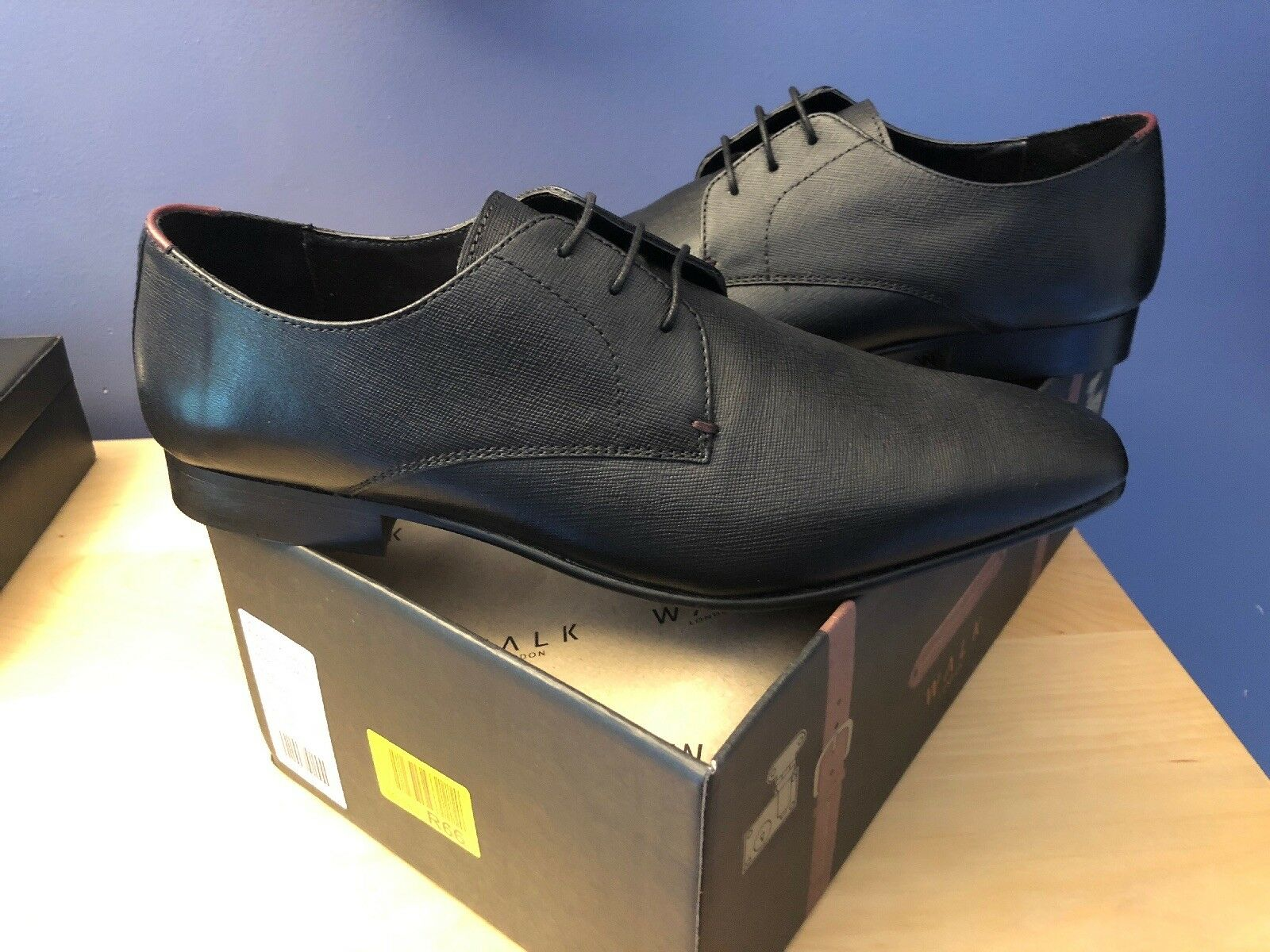Homme Marche London   Chaussures Noir Taille 9 homme