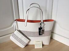 "Bnwt Ralph Lauren ""bianco ottico / Arancione"" Tote Handbag"