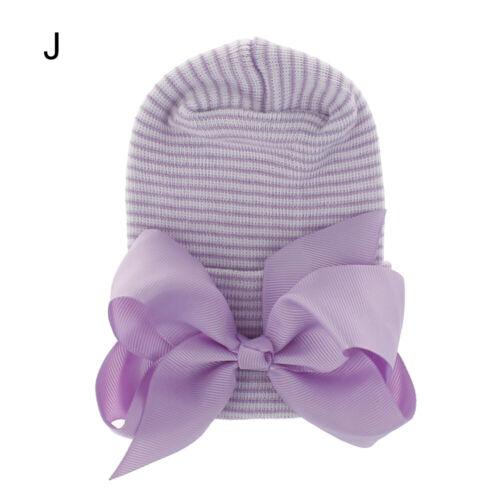 Bowknot Baby Girl Caps Infant Turban Newborn Hospital Hat Nursery Beanie Hat