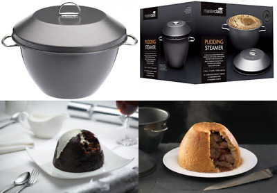 Master Class Non Stick 2 Litre Steamed Pudding Bowl Basin Steamer /& Lid