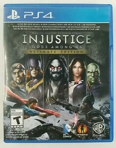 Injustice Gods Among Us Ultimate Edition PS4 PlayStation 4 /w Manual - Like New