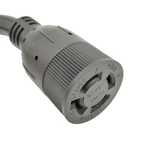 Generator 20A 4-Prong L14-20 Extension Cord NEMA L14-20P to L14-20R 25/' 50/'