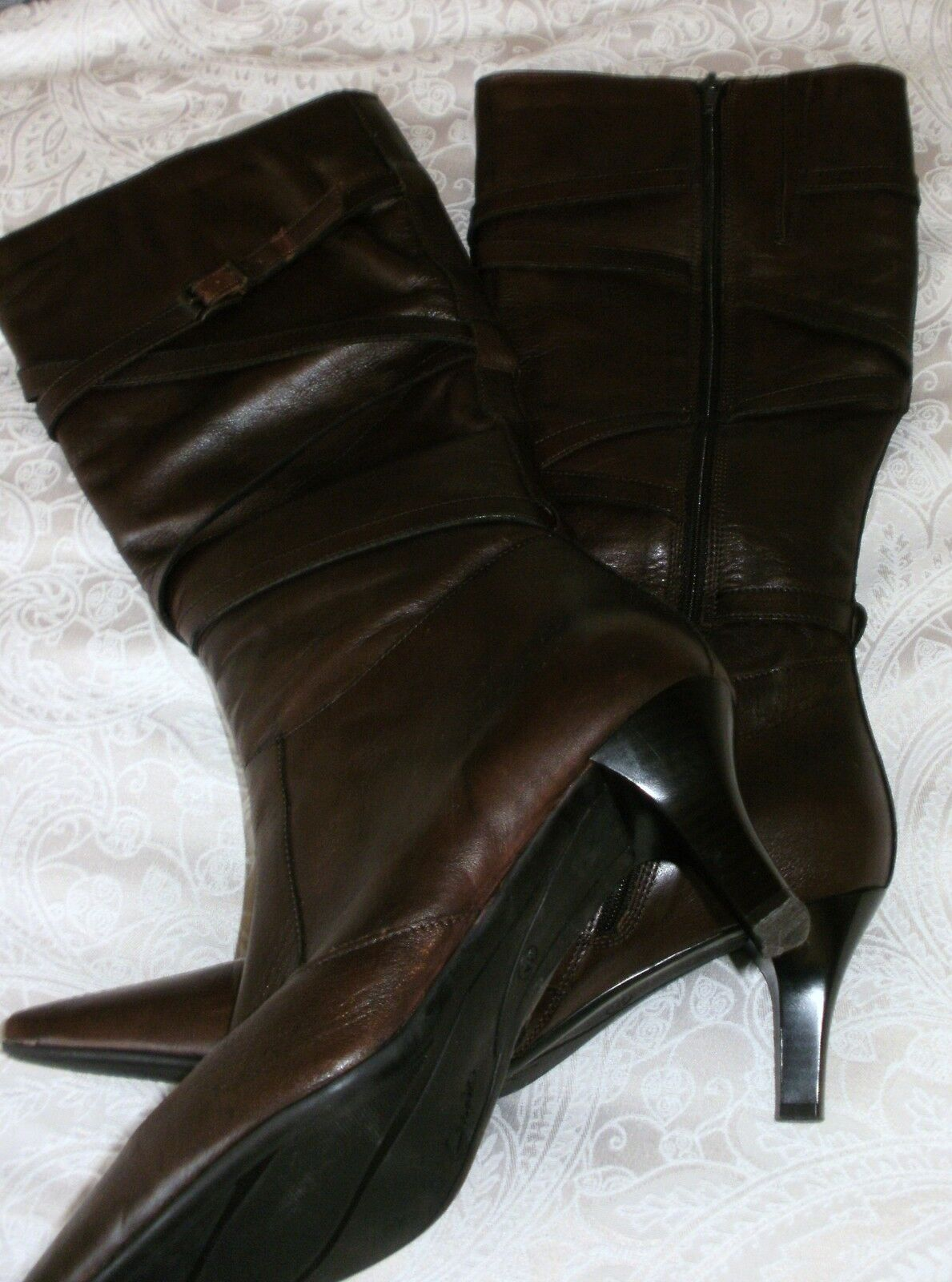 Ladies clarks brown long leg boots size 6.5