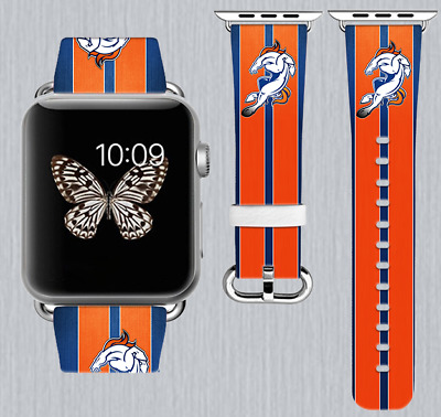 Denver Broncos Apple Watch Band 38 40 42 44 mm IWatch PU
