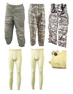 USGI Military 6 Piece GEN III ECWCS Bottom Kit Pants Drawers ACU Sand L/R NIB