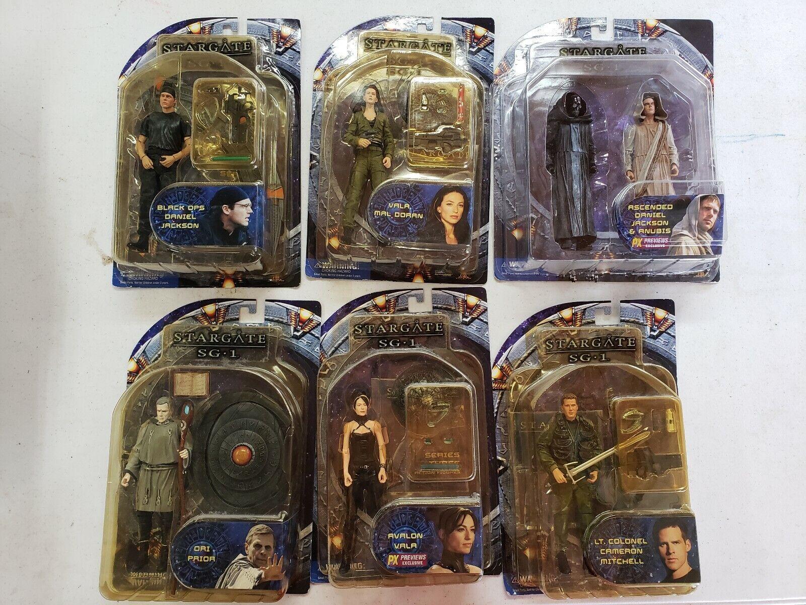 Estrellagate SG-1 Set Completo Serie 4 figura de Jackson Vala Ori Mitchell Anubis PX