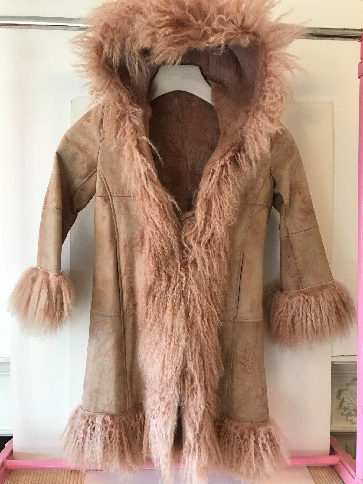 Girls Coat, All Real Fur, Size 8, Rizal French designer,
