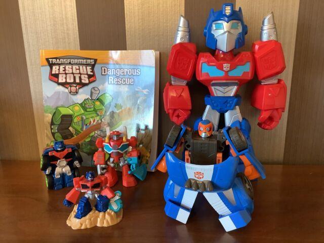 Transformers Rescue Bots Academy Go-Bots Optimus Prime Heatwave Figure Book Lot