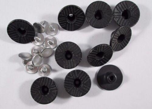 Jeans Knopf 10 stück mit Niete  schwarz muster      knöpfe 18 mm #562#