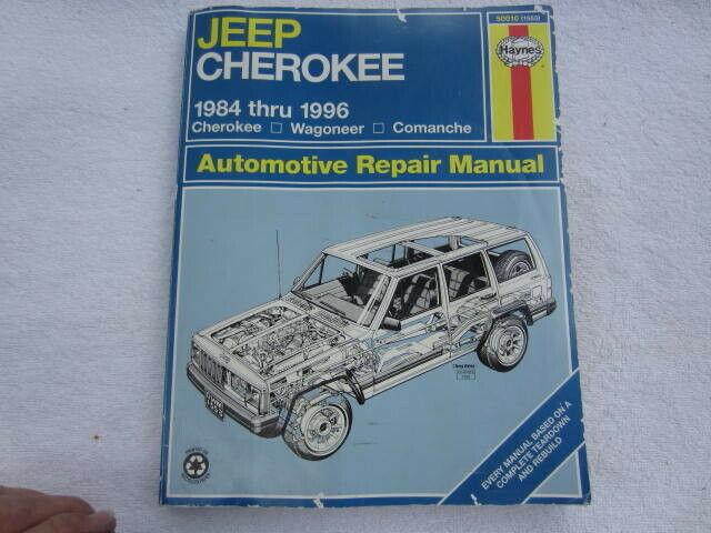 Haynes Jeep Cherokee 1984 Thru 1996 Cherokee Wagoneer