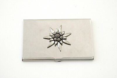 Edelweiss L Business/credit Card Holder Great Flower Gift 114 Hohe Sicherheit