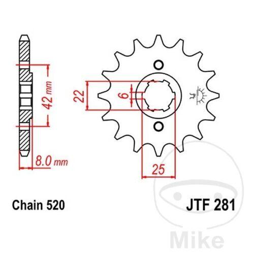 JT Front Sprocket 14T 520 Pitch JTF281.14 Honda XL 500 R Pro Link 1982-1985