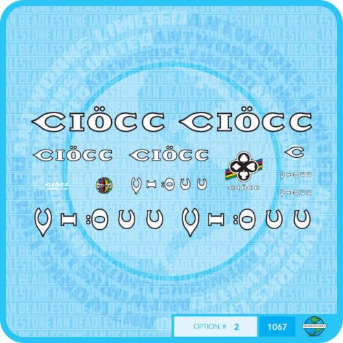 Ciöcc Ciocc Decals Bicycle Transfers Stickers Set 2